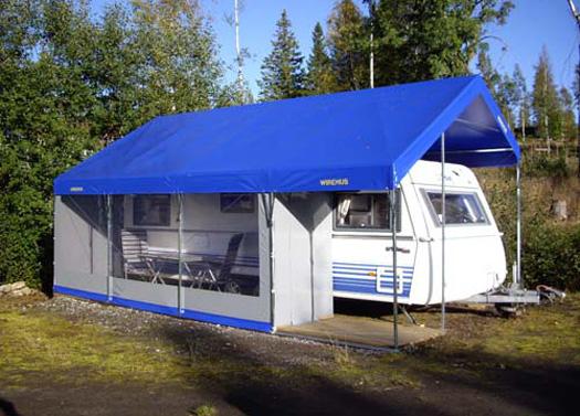 husbil tält garage